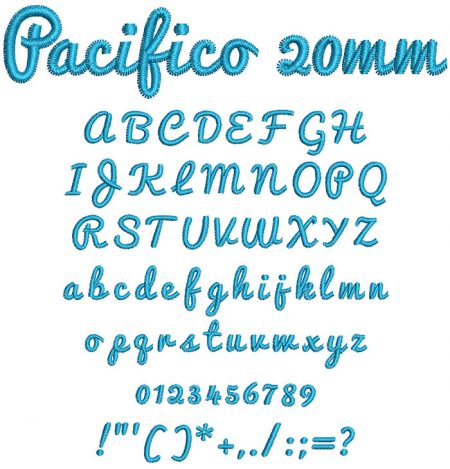 Pacifico 20mm Font