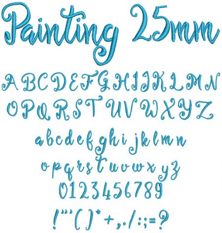 Painting 25mm Font