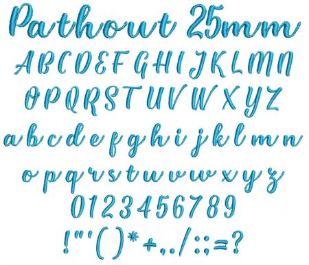 Pathout 25mm Font