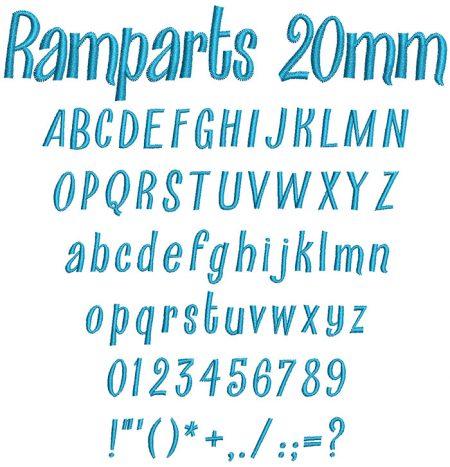Ramparts 20mm Font