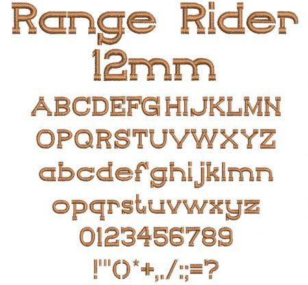Range Rider 12mm Font