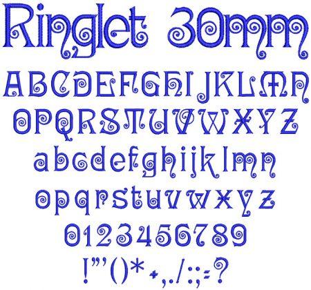 Ringlet 30mm Font
