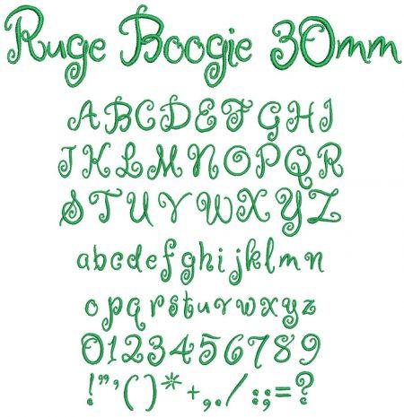 Ruge Boogie 30mm Font