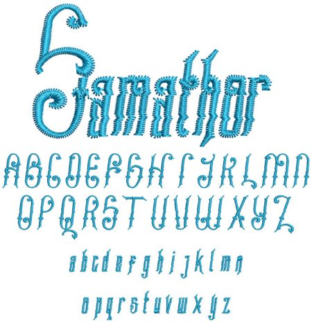 Samathor 30mm Font