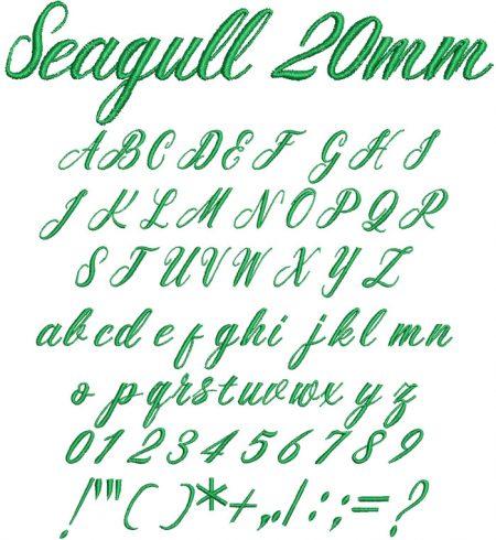 Seagull 20mm Font