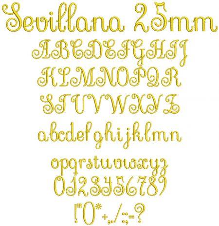 Sevillana 25mm Font