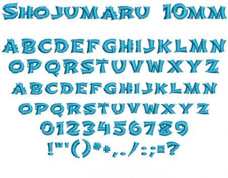Shojumaru 10mm Font