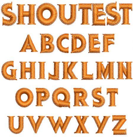 Shoutest 10mm Font