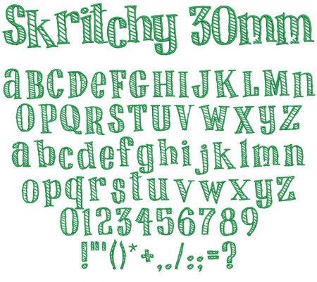 Skritchy 30mm Font