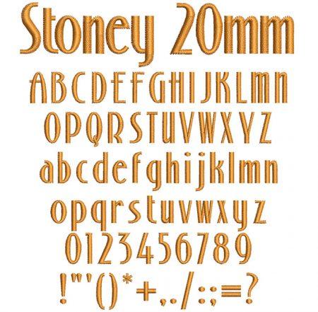 Stoney 20mm Font