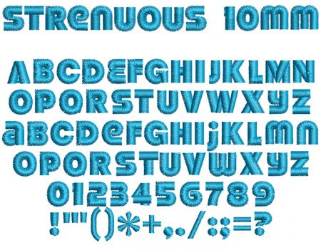 Strenuous 10mm Font