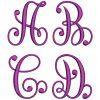 Swirling Monogram 50mm Font