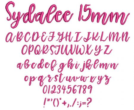 Sydalee 15mm Font