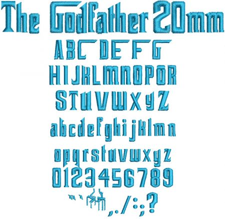 The God Father 20mm Font