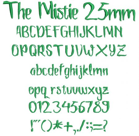 The Mistie 25mm Font
