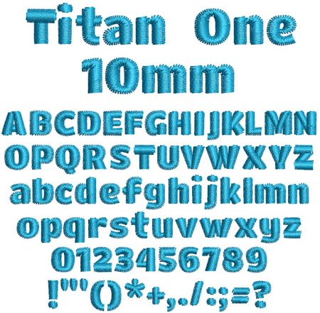 Titan One 10mm Font