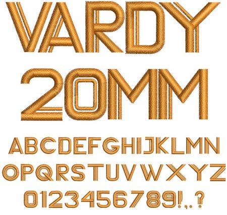 Vardy 20mm Font