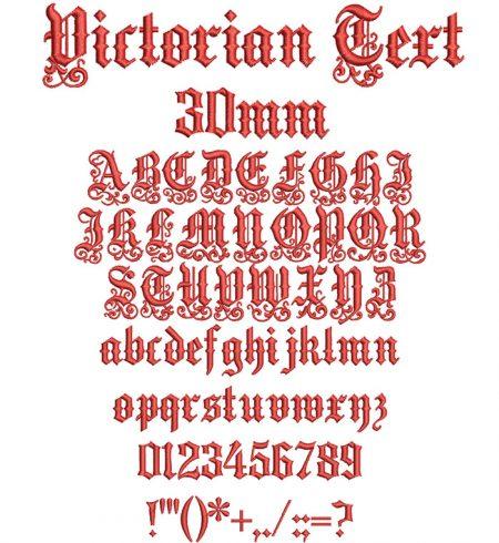 Victorian Text 30mm Font