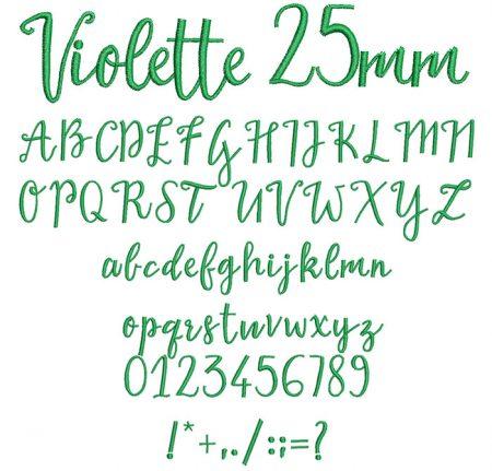 Violette 25mm Font