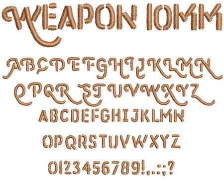 Weapon 10mm Font