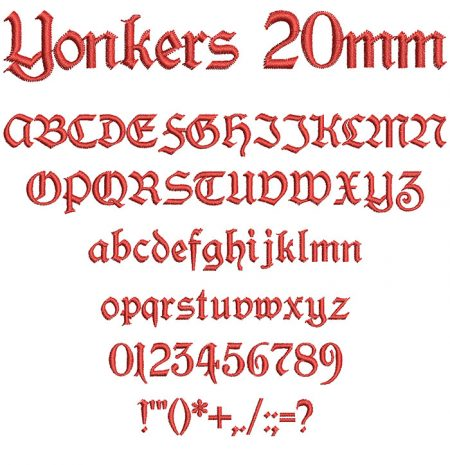 Yonkers 20mm Font