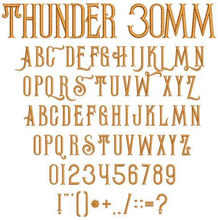 Thunder esa font icon