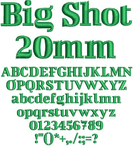 Big Shot esa font icon