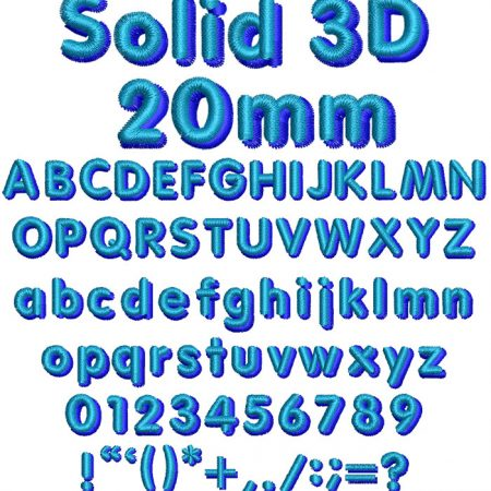 Solid 3D esa font icon