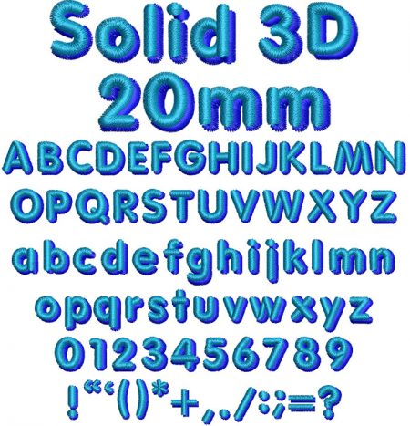 Solid 3D esa font icon