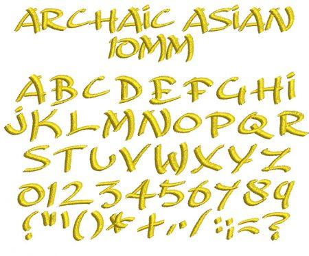 Archaic Asian esa font icon