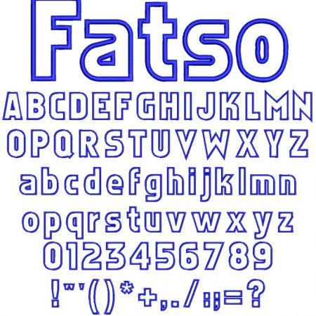 Fatso applique esa font icon