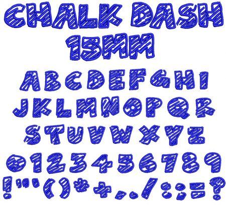 Chalk Dash esa font icon
