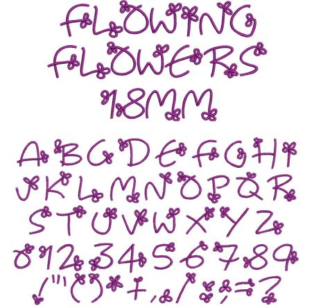 Flowing Flowers esa font icon