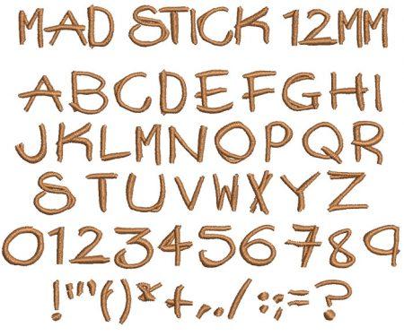Mad Stick esa font icon