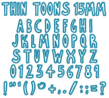 Thin Toons esa font icon