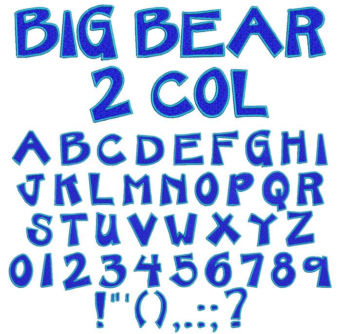 Big Bear 2 color esa font icon