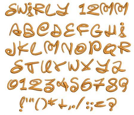 Swirly esa font icon