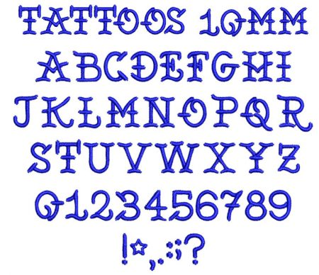 Tattoos esa font icon
