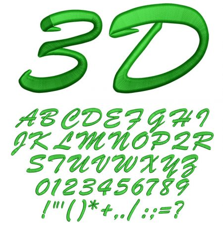 3D Brush Script50mm