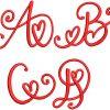 Crafty Heart mono esa font letters icon