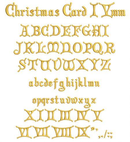 Christmas Card esa font icon