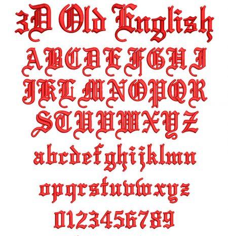 3D Foam old english esa font icon