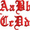 3d foam old english esa font letters icon