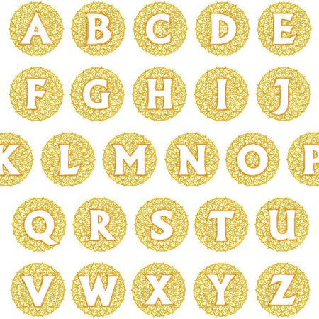 mandala monogram esa font icon