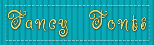 Fancy ESA Embroidery Font Category
