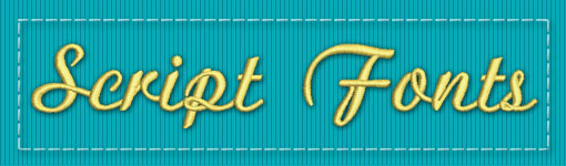 Script ESA Embroidery Font Category