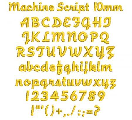 Machine Script esa font icon