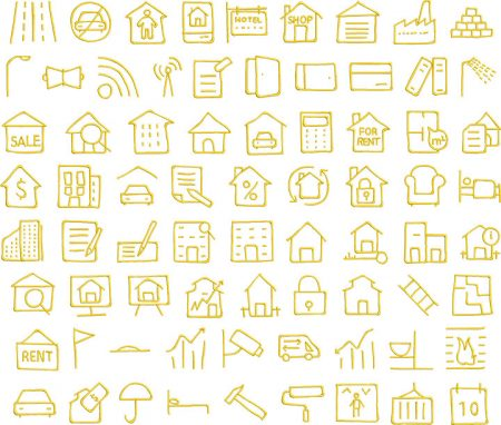 Real Estate 1 glyphs icon