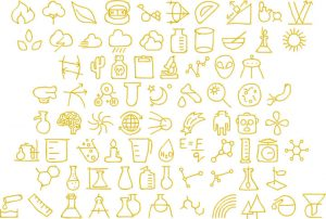 science 2 glyphs icon