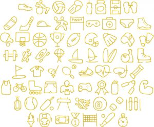 sports 1 glyphs icon